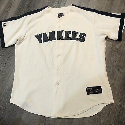 $65 • Buy New York Yankees #4 Lou Gehrig Jersey-Cooperstown Collection-Iron Horse-Mens L