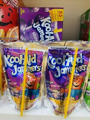 Kool Aid Jammers Grape X 5 Pack (177ml) American Drink • 8.99£