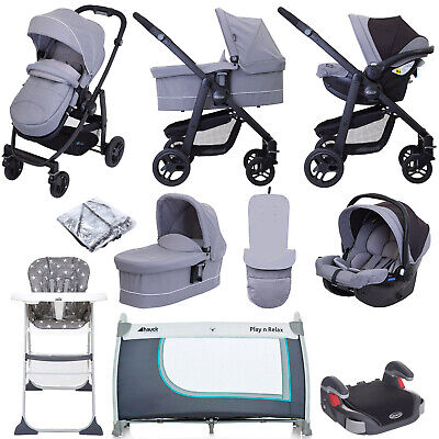 Graco Evo (SnugEssentials Car Seat) Everything You Need Travel System Bundle Wit • 560£