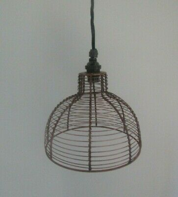 £13.95 • Buy Wire Lampshade Industrial Rustic Vintage Retro Old Ceiling Pendant Light Shade