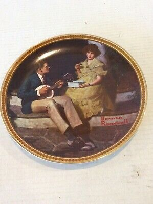 $ CDN25.05 • Buy Norman Rockwell Knowles Rediscovered Women 3rd Collector Plate Pondering '83