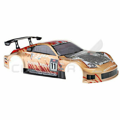 HSP RC CAR 1/10 On Road Drift Gold Nissan Body Shell Wing Spoiler Flying Fish • 19.85£
