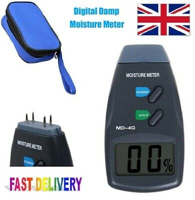 4-Pin Digital Moisture Meter PRO Damp Detector Timber Wood Tester Plaster Sensor • 11.85£