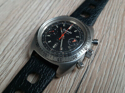 $ CDN1080.94 • Buy Vintage Gigandet Steel Diver Chronograph Watch VALJOUX 7733 Swiss 1970's 38mm