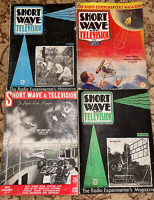 Short Wave And Television X4 Magazines • 0.99£