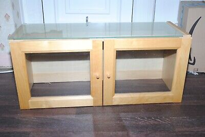 Double Ikea Billy Display Top Extension Boxes With Glass Shelf & Doors • 10£