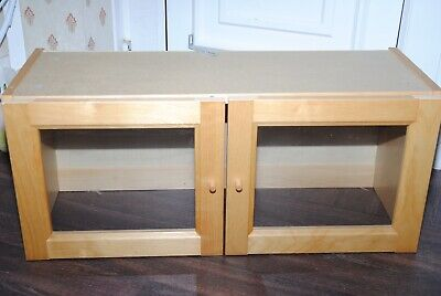 Double Ikea Billy Display Top Extension Boxes With Glass Doors • 10£