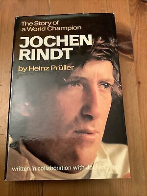 £25 • Buy Jochen Rindt The Story Of A World Champion 1942-1970 By Pruller Pub. Kimber 1972