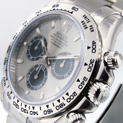$ CDN56199.07 • Buy ROLEX DAYTONA 116509 COSMOGRAPH 18K WHITE GOLD 40 Mm OYSTER STEEL AND BLACK DIAL