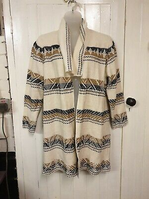 Cream Patterned Waterfall Cardigan Size 22 George • 0.99£