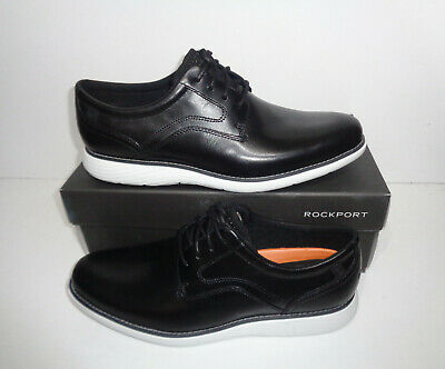 Rockport Mens Black Premium Leather Lace Up Formal Shoes RRP £120 New Size 10 • 47.48£