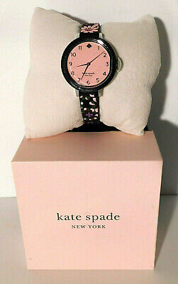 $ CDN79.74 • Buy Kate Spade New York Park Row Watch With Black Floral Silicone Band KSW1614 NWT