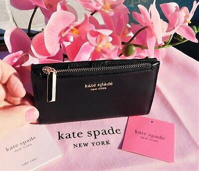 $ CDN66.81 • Buy 🌸 NWT Kate Spade New York Sylvia Small Slim Bifold Leather Wallet Black New $98