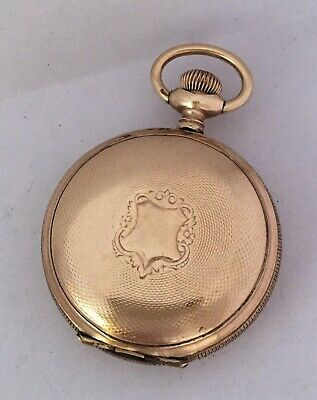 Small 36mm Antique Gold-Plated Full Hunter Elgin National Watch Co. Pocket Watch • 395£