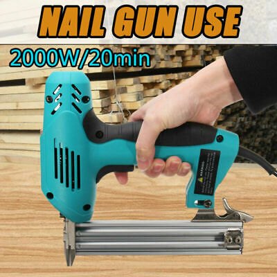 2000W 10-30mm Electric Straight Nail Staple Gun Heavy Duty Woodworking Tool 220V • 47.99£
