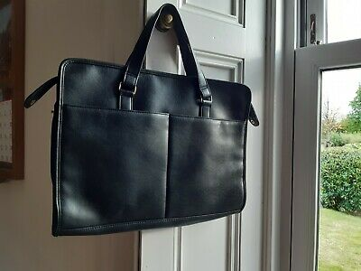 Vintage Black Briefcase Bag With Handles - In Good Condition • 5.10£
