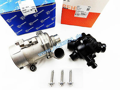 Set Behr Mahle Thermostat + Pierburg Electronic Water Pump For BMW E81 E60 E90 • 325.80£