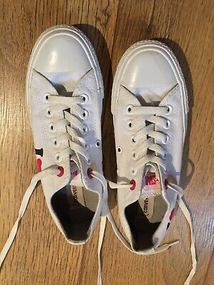 Converse All Star Limited Edition I Heart Collection White Size UK 4.5 • 12£