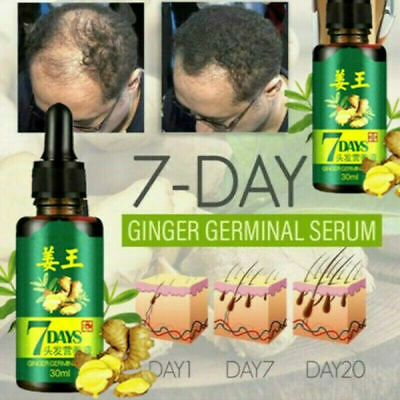 AU13.16 • Buy Regrowth 7Day Ginger Germinal Hair Growth Serum Hairdressing Oil Loss Treatement