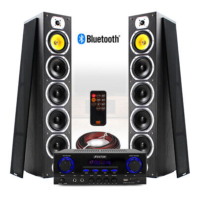 SHFT57 HiFi Tower Speakers And Stereo Amplifier Bluetooth MP3 Home Music System • 229£