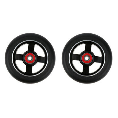 2pcs 100mm Metal Alloy Core Stunt Scooter Wheel Wheels With Bearing 88A • 16.01£