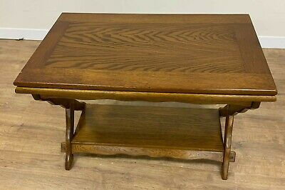 Solid Dark Oak Table With Rotational Table Top • 70£