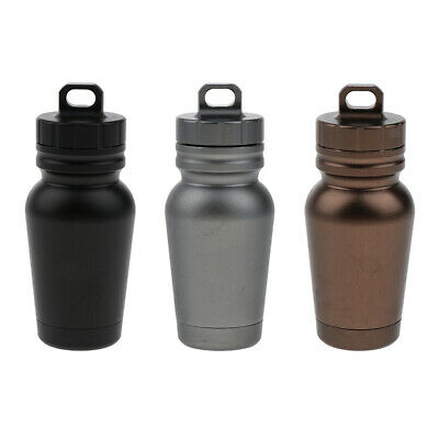 Waterproof Outdoor Storage Container Case Pill Box Key Ring Pendent Emergency • 4.03£