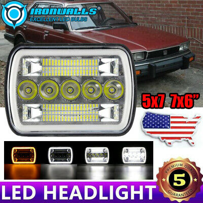 $38.88 • Buy 7X6  LED Headlight W/ DRL Turn Signal Fit For Honda Civic Prelude Accord
