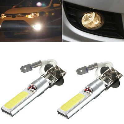 AU13.78 • Buy 2Pcs H3 COB LED Bright Xenon White 6000K Car Auto Fog Light Lamp Bulb 12V  WJ