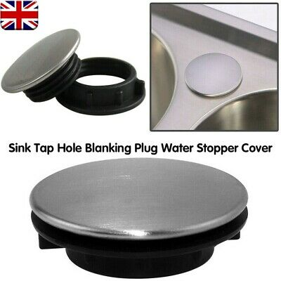 Stainless Steel Kitchen Sink Tap Hole Blanking Plug Stopper Basin Cover 36mm • 3.19£
