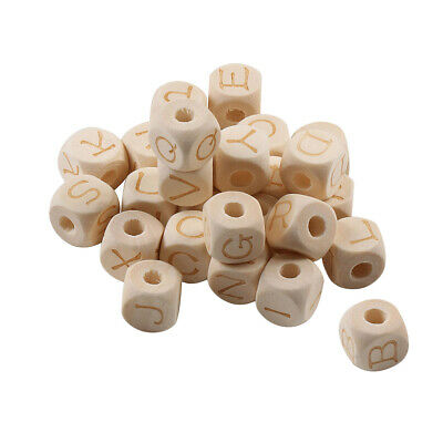 £3.77 • Buy 26pcs Alphabet Beads Spacer Wooden Jewelry Making Bracelet Accessory
