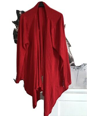 South Plus Size 24 Red Waterfall Cardigan • 4.25£