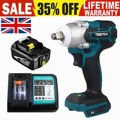 Replacement Cordless Impact Wrench For Makita DTW285Z 18V Brushless 1/2  Battery • 43.08£