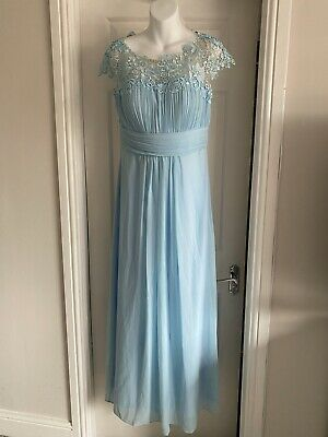 UK Ever-Pretty Lace Neck Long Bridesmaid Dresses Formal Evening Party Gown UK 10 • 13£