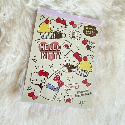 Kawaii Sanrio Hello Kitty Memo Pad With Stickers Stationary UK SELLER • 5.99£