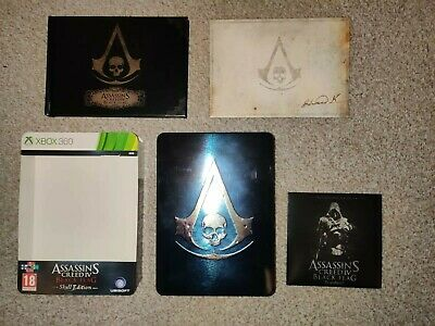 Assassin's Creed IV Black Flag Skull Edition Steelbook Xbox 360 *No Game* • 5£
