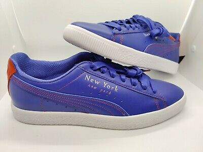 Size 10 New Puma Clyde Sneakers NYC Knicks Color Way Blue/orange 372310-01 Mens • 76.48£