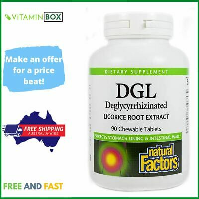 Natural Factors DGL Deglycyrrhizinated Licorice Root Extract - 90 Chewable Tabs  • 14.75£