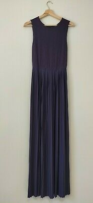 AU19.90 • Buy Asos Curve Purple Long Maxi Dress Plus Size 18 Elegant Pleated Sleeveless