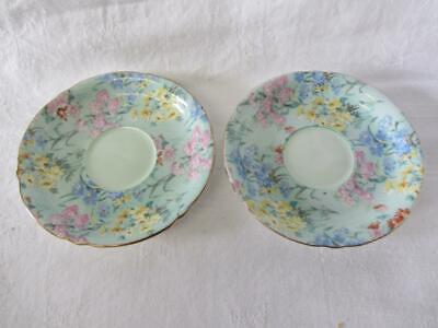 Lovely Shelley Melody Floral Chintz #12974 Coffee Saucers X 2 • 19.99£