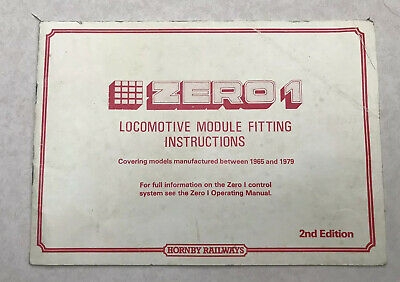 Hornby Zero 1 Locomotive Module Fitting Instructions • 5.90£