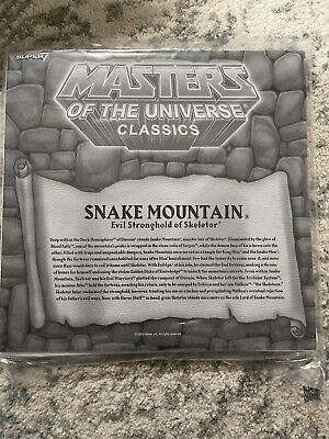 $34 • Buy Super7 Masters Of The Universe Classics Snake Mountain Playset Poster He-Man New