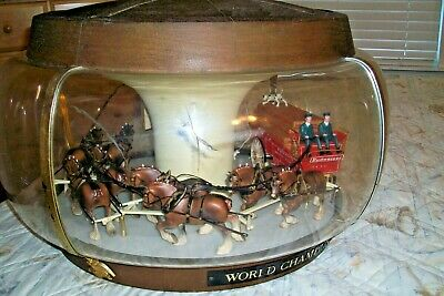 $ CDN726.17 • Buy Vintage Budweiser World Champion Clydesdale Team Lighted Hanging Carousel Sign