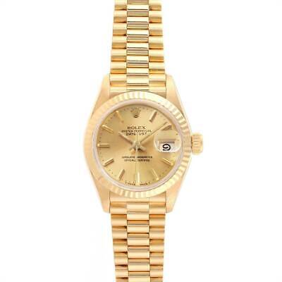 $ CDN9855.65 • Buy Rolex 26mm Presidential Datejust 69178 Champagne Dial 18k Yellow Gold Watch