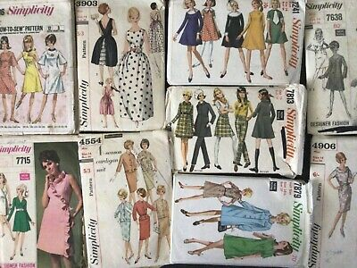 AU25 • Buy Simplicity Vintage 1960s Sewing Patterns - Size 14 - Bust 34