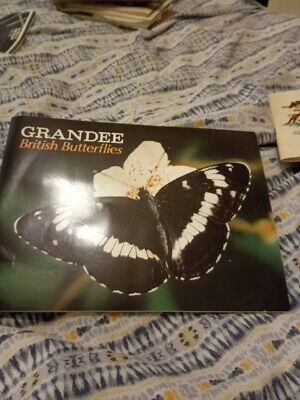 Grandee Cigar Cards British Butterflies Complete Set And Album • 0.99£