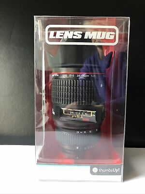 Novelty Camera Lens Mug Travel Cup By Thumbs Up - Photographer Gift - Brand New • 6£