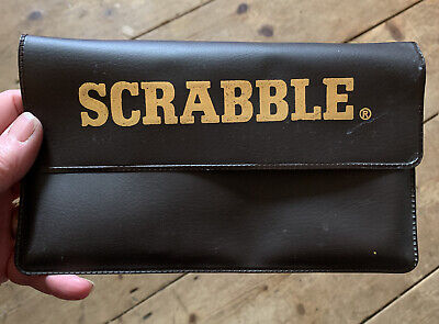 Vintage Pocket Magnetic Travel Scrabble In Soft Case Spears Games Classic • 2.70£