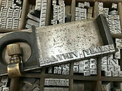 Complete 24 Pt Garamond Bold Italic Letterpress Sets Metal Printing Letters Type • 32£