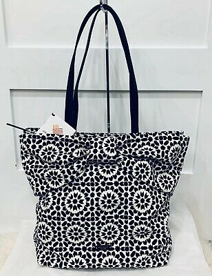 $ CDN81.68 • Buy NWT Kate Spade Mosaic Bow Tote Bag Beautiful Statement Bow Zip Top Black/white